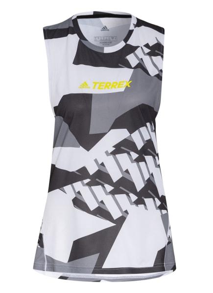 adidas Tanktop TERREX PARLEY AGRAVIC, Farbe: WEISS/ SCHWARZ/ GRAU (Bild 1)