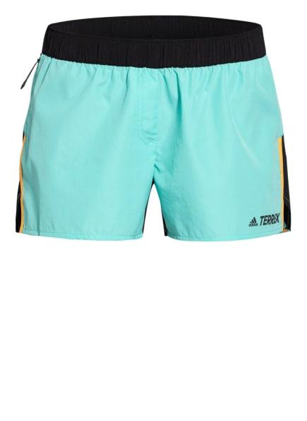 adidas Laufshorts TERREX PRIMEBLUE, Farbe: TÜRKIS/ SCHWARZ (Bild 1)