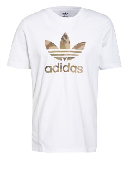 adidas Originals T-Shirt CAMO TREFOIL, Farbe: WEISS (Bild 1)
