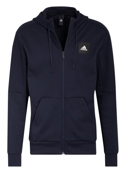 adidas Sweatjacke , Farbe: DUNKELBLAU (Bild 1)
