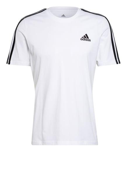adidas T-Shirt ESSENTIALS, Farbe: WEISS/ SCHWARZ (Bild 1)