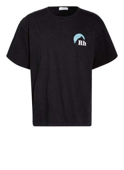 RHUDE T-Shirt SUNDRY, Farbe: SCHWARZ/ TÜRKIS/ WEISS (Bild 1)