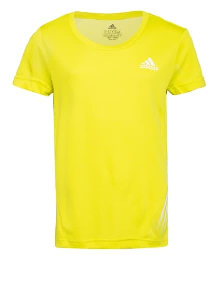 adidas T-Shirt AEROREADY, Farbe: NEONGELB (Bild 1)