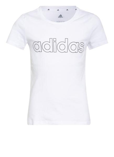adidas T-Shirt, Farbe: WEISS/ SCHWARZ (Bild 1)