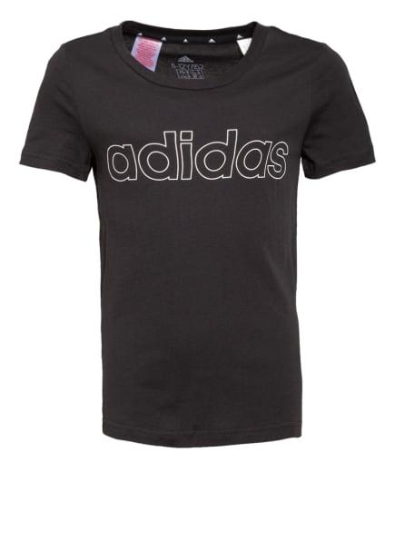 adidas T-Shirt, Farbe: SCHWARZ/ WEISS (Bild 1)