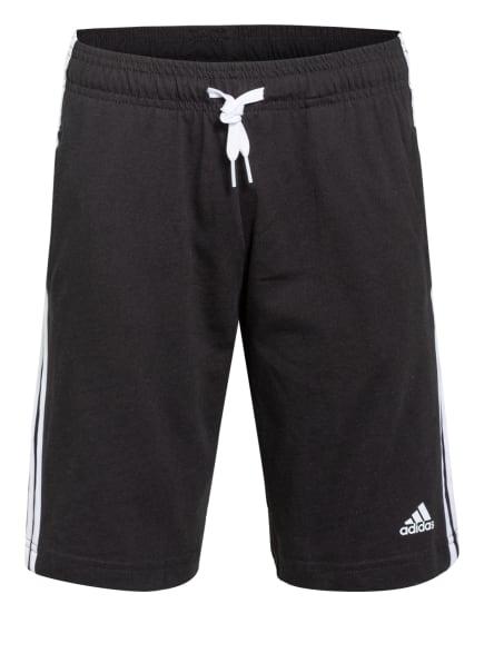 adidas Sweatshorts ESSENTIALS, Farbe: SCHWARZ/ WEISS (Bild 1)