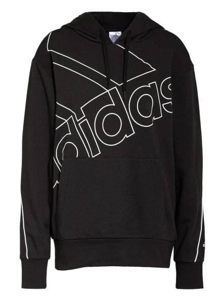 adidas Hoodie FAVORITES, Farbe: SCHWARZ/ WEISS (Bild 1)