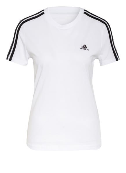 adidas T-Shirt LOUNGEWEAR ESSENTIALS, Farbe: WEISS/ SCHWARZ (Bild 1)