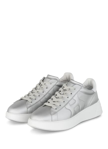 HOGAN Plateau-Sneaker REBEL, Farbe: SILBER/ WEISS (Bild 1)