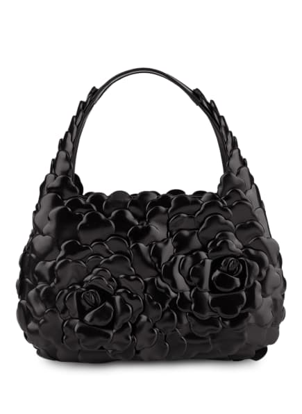 VALENTINO GARAVANI Hobo-Bag ATELIER ROSE SMALL, Farbe: 0NO BLACK (Bild 1)