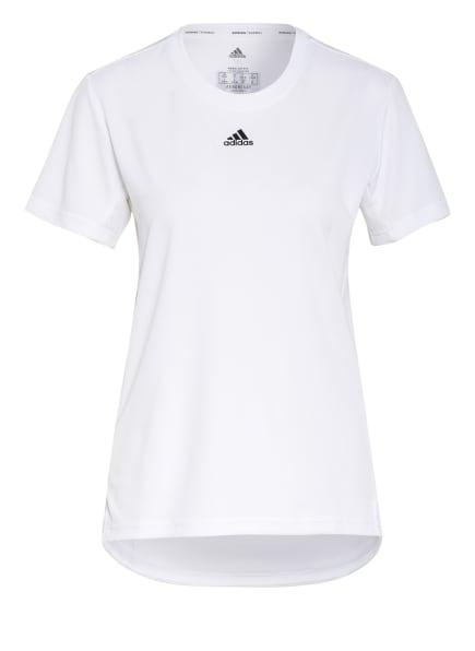 adidas T-Shirt NECESSI mit Mesh-Einsätzen, Farbe: WEISS (Bild 1)