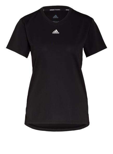 adidas T-Shirt NECESSI mit Mesh-Einsätzen, Farbe: SCHWARZ (Bild 1)