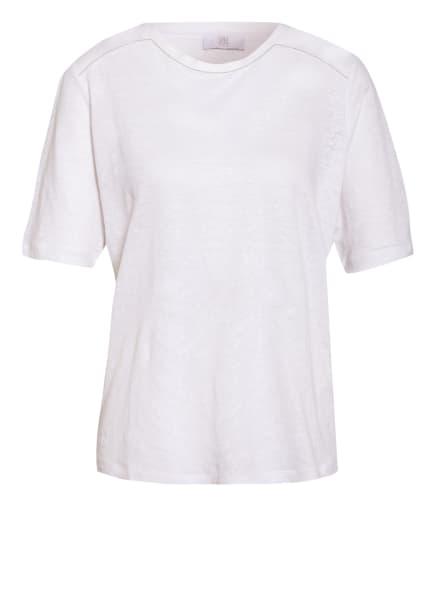 RIANI Leinenshirt mit Schmucksteinbesatz, Farbe: WEISS (Bild 1)