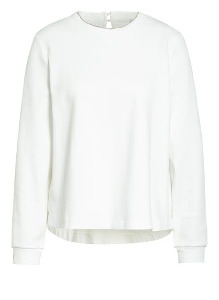 RIANI Sweatshirt im Materialmix mit Schmucksteinbesatz, Farbe: WEISS (Bild 1)
