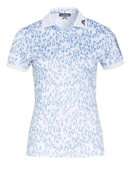 J.LINDEBERG Funktions-Poloshirt, Farbe: WEISS/ HELLBLAU (Bild 1)