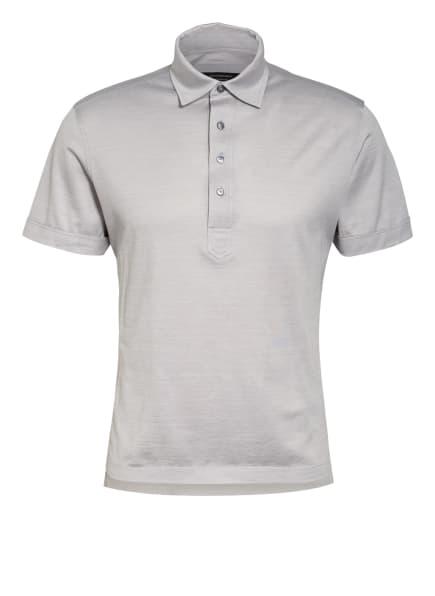 Ermenegildo Zegna Poloshirt mit Seide, Farbe: HELLGRAU (Bild 1)