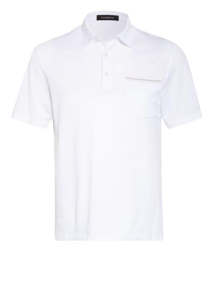 Ermenegildo Zegna Piqué-Poloshirt , Farbe: WEISS (Bild 1)