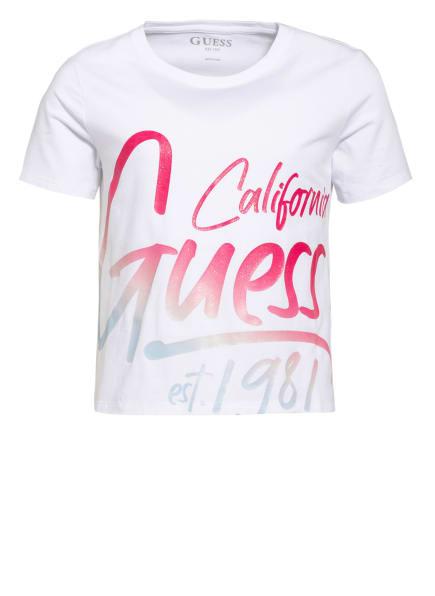 GUESS T-Shirt, Farbe: WEISS/ PINK/ ROSA (Bild 1)
