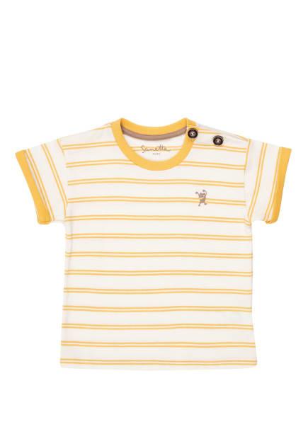 Sanetta PURE T-Shirt, Farbe: WEISS/ DUNKELGELB (Bild 1)