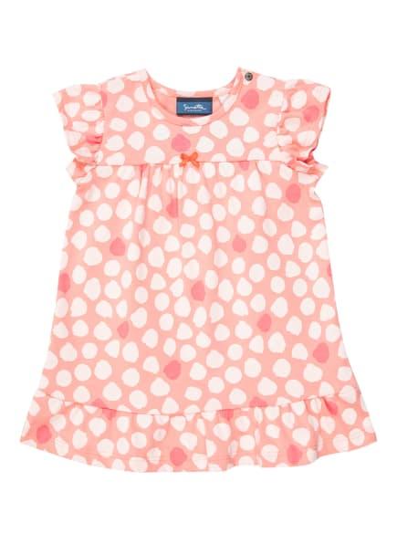 Sanetta KIDSWEAR Kleid mit Volantbesatz, Farbe: HELLORANGE/ WEISS (Bild 1)