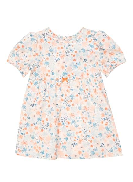 Sanetta KIDSWEAR Kleid , Farbe: WEISS/ HELLBLAU/ ORANGE (Bild 1)
