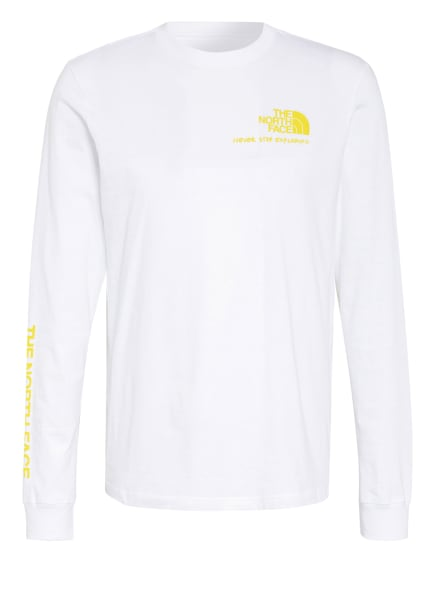 THE NORTH FACE Longsleeve BASE FALL, Farbe: WEISS/ BRAUN/ GELB (Bild 1)