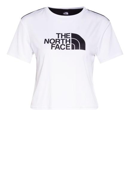 THE NORTH FACE T-Shirt MA mit Mesh-Einsatz, Farbe: WEISS/ SCHWARZ (Bild 1)