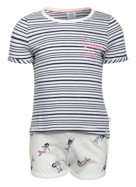 Sanetta Shorty-Schlafanzug, Farbe: WEISS/ DUNKELBLAU (Bild 1)