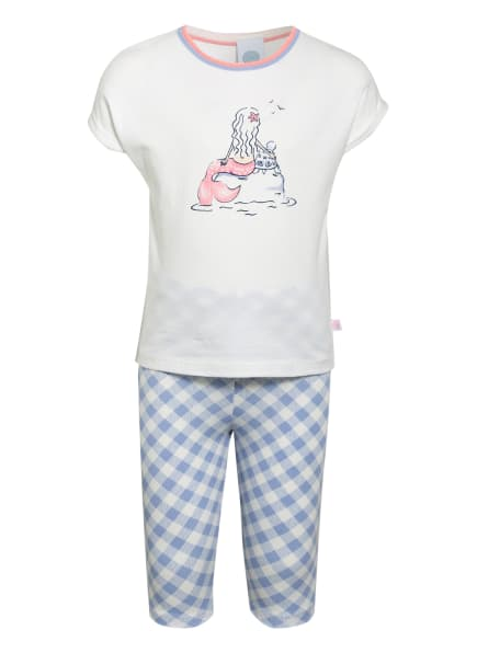 Sanetta 3/4-Schlafanzug, Farbe: WEISS/ LILA (Bild 1)