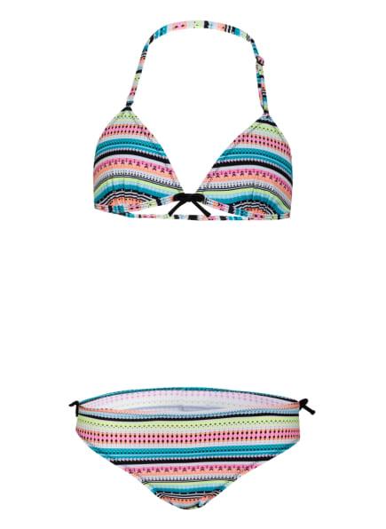Sanetta Triangel-Bikini mit UV-Schutz , Farbe: WEISS/ NEONGELB/ NEONORANGE (Bild 1)