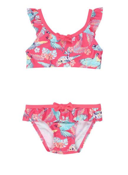 Sanetta Bustier-Bikini mit UV-Schutz 50+, Farbe: PINK/ HELLBLAU (Bild 1)