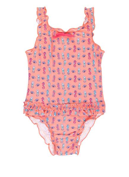 Sanetta Badeanzug, Farbe: LACHS/ HELLBLAU (Bild 1)
