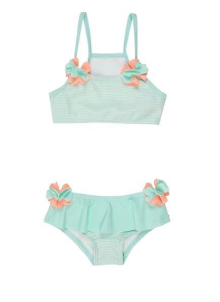 Sanetta Bustier-Bikini mit UV-Schutz 50+, Farbe: MINT/ LACHS (Bild 1)
