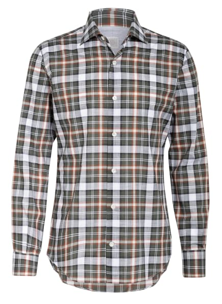 eleventy Hemd Extra Slim Fit, Farbe: DUNKELGRAU/ OLIV/ WEISS (Bild 1)