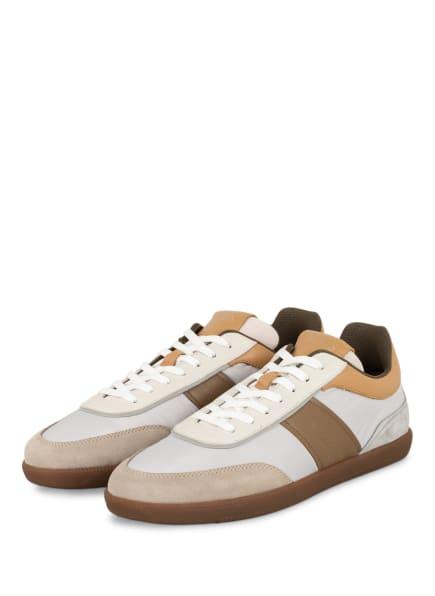 TOD'S Sneaker CASSETTA, Farbe: WEISS/ COGNAC/ HELLGRAU (Bild 1)