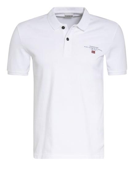 NAPAPIJRI Piqué-Poloshirt ELBAS, Farbe: WEISS (Bild 1)