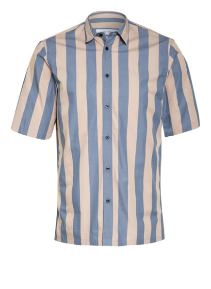 SAMSØE  SAMSØE Kurzarm-Hemd TARO Regular Fit, Farbe: BEIGE/ BLAU (Bild 1)