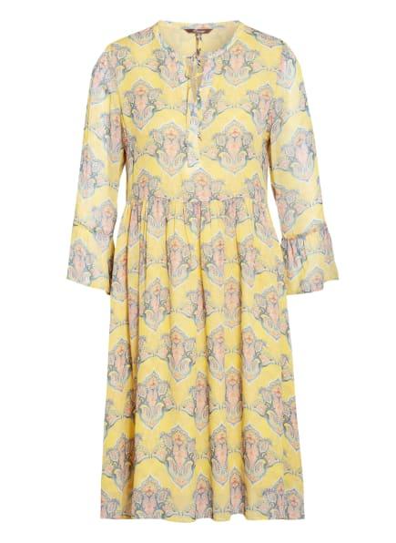 Princess GOES HOLLYWOOD Kleid mit 3/4-Arm, Farbe: DUNKELGELB/ BLAU/ HELLORANGE (Bild 1)