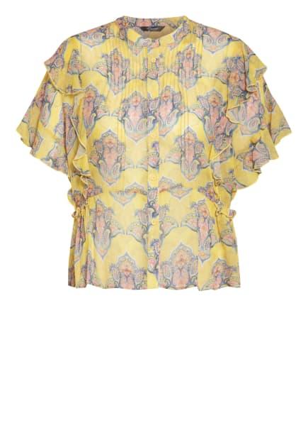 Princess GOES HOLLYWOOD Bluse mit Volantbesatz, Farbe: DUNKELGELB/ BLAU/ HELLORANGE (Bild 1)