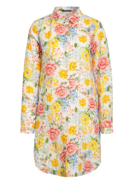 Princess GOES HOLLYWOOD Hemdblusenkleid aus Leinen, Farbe: WEISS/ GELB/ PINK (Bild 1)