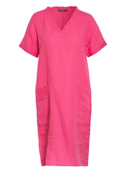Princess GOES HOLLYWOOD Leinenkleid mit Rüschenbesatz, Farbe: PINK (Bild 1)
