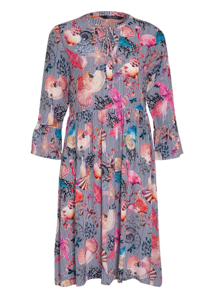 Princess GOES HOLLYWOOD Kleid mit 3/4-Arm, Farbe: DUNKELBLAU/ WEISS/ PINK (Bild 1)