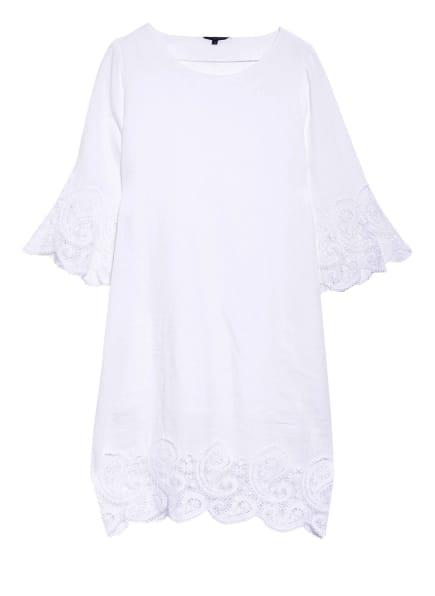 Princess GOES HOLLYWOOD Leinenkleid mit 3/4-Arm und Spitzenbesatz, Farbe: WEISS (Bild 1)