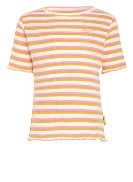 VINGINO T-Shirt HYMKE, Farbe: NEONROSA/ BLAUGRAU/ DUNKELGELB (Bild 1)