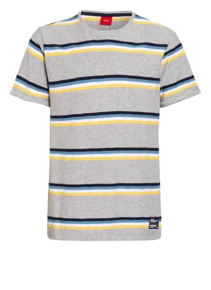 s.Oliver RED T-Shirt, Farbe: GRAU/ GELB/ HELLBLAU (Bild 1)