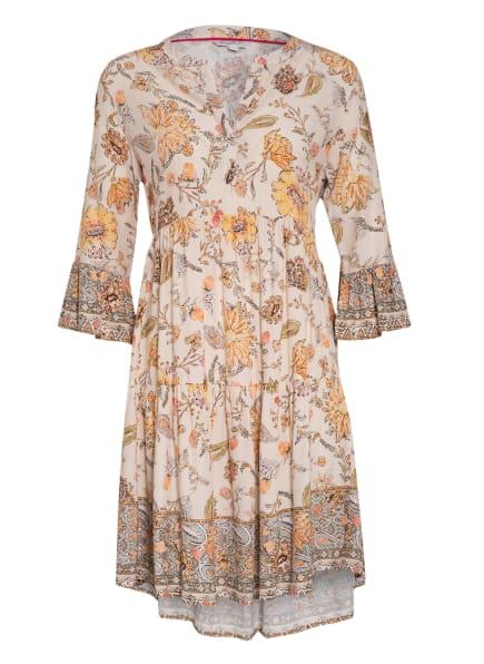 FrogBox Kleid mit 3/4-Arm, Farbe: CREME/ HELLORANGE/ HELLGRÜN (Bild 1)