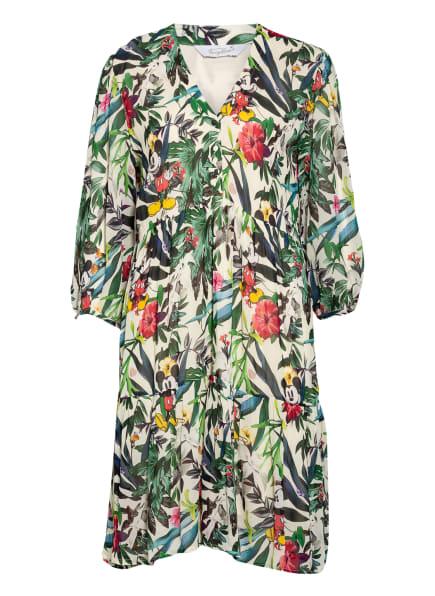 FrogBox Kleid mit 3/4-Arm, Farbe: ECRU/ GRÜN/ ROT (Bild 1)
