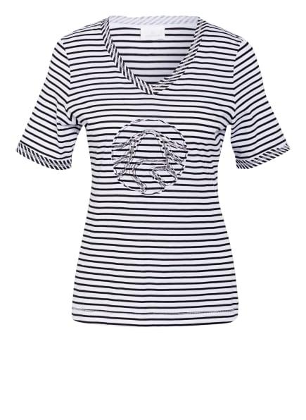 SPORTALM T-Shirt mit Schmucksteinbesatz, Farbe: WEISS/ BLAU (Bild 1)