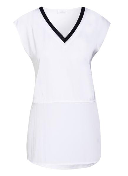 SPORTALM T-Shirt im Materialmix, Farbe: WEISS (Bild 1)