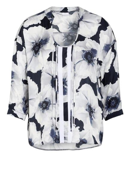 SPORTALM Blusenshirt mit 3/4-Arm, Farbe: WEISS/ DUNKELBLAU (Bild 1)
